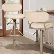 Ivy Bronx Bodden Adjustable Swivel Bar Stool; Champagne