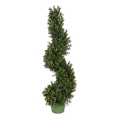 Darby Home Co Faux Boxwood Spiral Topiary; 36'' H x 10'' W x 10'' D