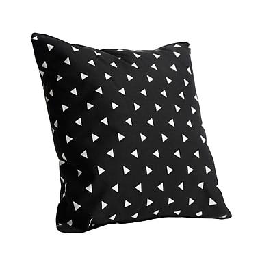 Harriet Bee Vivienne Triangle Cotton Throw Pillow; Black