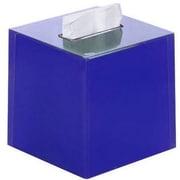 Latitude Run Scannell Tissue Box Cover; Blue