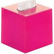 Latitude Run Scannell Tissue Box Cover; Fuchsia
