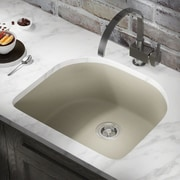 MRDirect Trugranite 25'' x 22'' Undermount Kitchen Sink; Slate