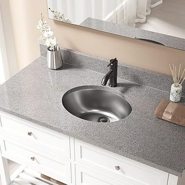 MRDirect Dual Mount Stainless Steel Oval Vessel Bathroom Sink w/ Overflow; Antique Bronze