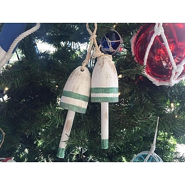 The Holiday Aisle Wooden Decorative Maine Lobster Trap Buoy Christmas Ornament (Set of 2)