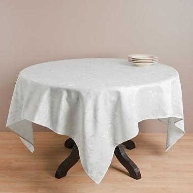 The Holiday Aisle Royal De Noel Jacquard Xmas Square Tablecloth; Ivory