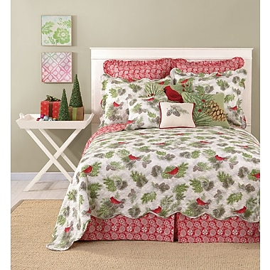 The Holiday Aisle Colorful Printed Bedskirt; King