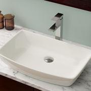 MRDirect Porcelain Rectangular Vessel Bathroom Sink; Bisque