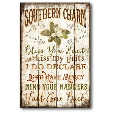 Winston Porter 'Southern Charm' Textual Art on Wrapped Canvas