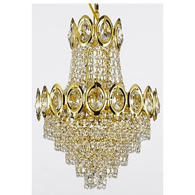 Willa Arlo Interiors Charvi 4-Light Empire Chandelier; Gold