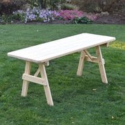 World Menagerie Piegan Pine Picnic Table; Unfinished