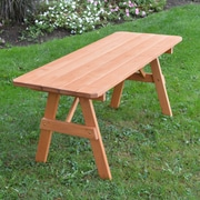 World Menagerie Piegan Pine Picnic Table; Cedar Stain