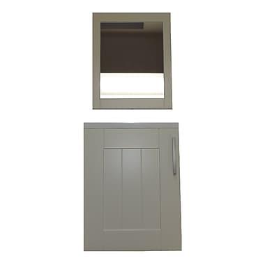 Latitude Run Schill 16'' Single Bathroom Vanity Set w/ Mirror; Ivory White