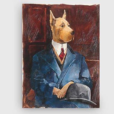 Winston Porter 'Inspector Doglesh' Painting Print on Wrapped Canvas