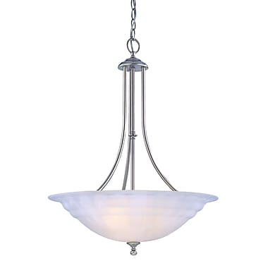 Alcott Hill Bainsbury 3-Light Inverted Pendant; Satin Nickel