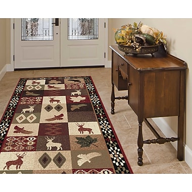 Loon Peak Alers Red/Brown Area Rug; Runner 2'7'' x 7'3''