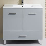 Orren Ellis Kirchoff 35'' Single Vanity Set; Gray