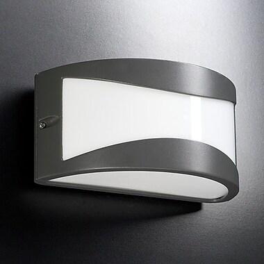 Latitude Run Seo 1-Light Outdoor Flush Mount; Architectural Bronze