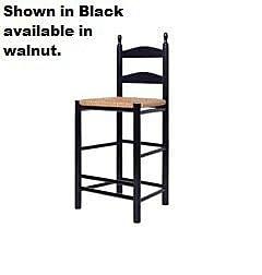 August Grove McCowen 30'' Bar Stool; Black