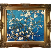 'Branches of an Almond Tree in Blossom' by Vincent Van Gogh Horizontal Rectangle Framed Painting