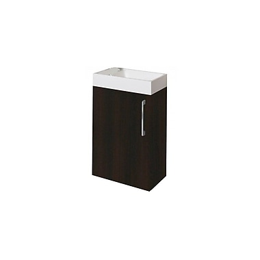 Latitude Run Schnieders 16'' Single Bathroom Vanity Set; Wenge