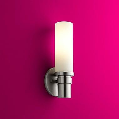 Latitude Run Sellner 1-Light Modern Wall Sconce; Satin Nickel