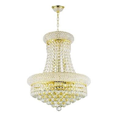 Rosdorf Park Clairebella 8-Light Empire Chandelier; Empire Gold