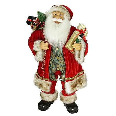 The Holiday Aisle Standing Santa Claus Christmas Figure w/ Gift Bag and Presents
