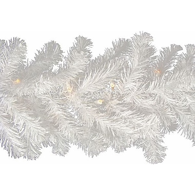 The Holiday Aisle Pre-Lit Snow Artificial Christmas Garland; 12'' W x 108'' L