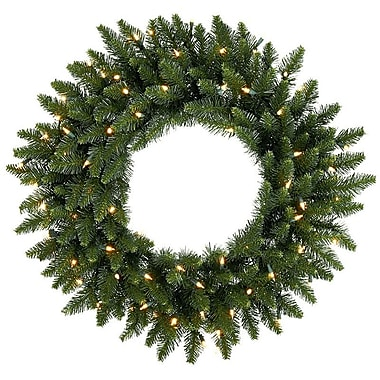 The Holiday Aisle Pre-Lit Eastern Pine Artificial Christmas Wreath; 24''