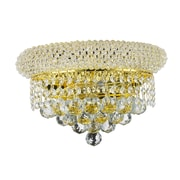 Rosdorf Park Chatteris 2-Light Clear Crystal Empire Wall Sconce; Gold
