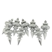 The Holiday Aisle Swirl Shatterproof Christmas Finial Ornament (Set of 8); Silver