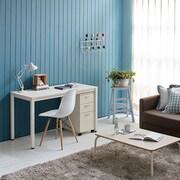 Ebern Designs Beem Writing Desk; White/White