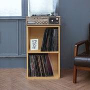 Ebern Designs Bellwood 29'' Cube Unit Bookcase; Natural