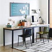 Ebern Designs Beem Writing Desk; Teak/Black