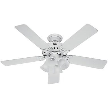 Hunter Fan 52'' Studio Series 5-Blade Fan; White with White Blades