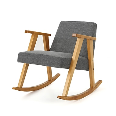 Brayden Studio Welliver Rocking Chair; Gray