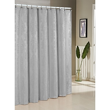 Darby Home Co Ohlman Jacquard Shower Curtain; Silver