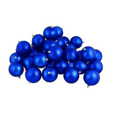 The Holiday Aisle Matte Shatterproof Christmas Ball Ornament (Set of 12); Lavish Blue