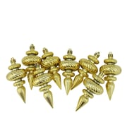 The Holiday Aisle Swirl Shatterproof Christmas Finial Ornament (Set of 8); Gold