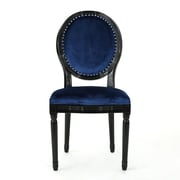 Rosdorf Park Chambray Upholstered Dining Chair (Set of 2); Blue