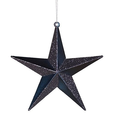 The Holiday Aisle Matching Iridescent Glitter Christmas Star Ornament; Sea Blue
