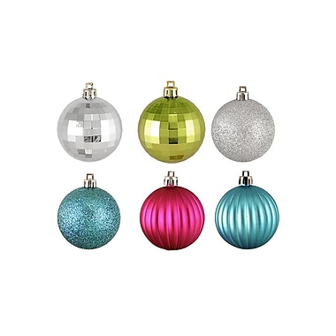 The Holiday Aisle 100 Piece Shatterproof Christmas Ball Ornament Set; Jewel Tone