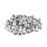 The Holiday Aisle 100 Piece Shatterproof Christmas Ball Ornament Set; Silver Splendor