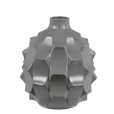 Varick Gallery Rascon Round Ceramic Glossy Table Vase