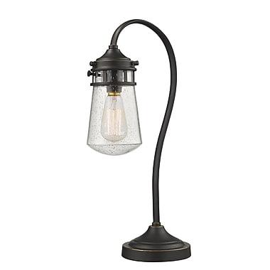 Z-Lite Celeste Table Lamp Light, Bronze, Clear Seedy Glass Shade (TL120-OB)
