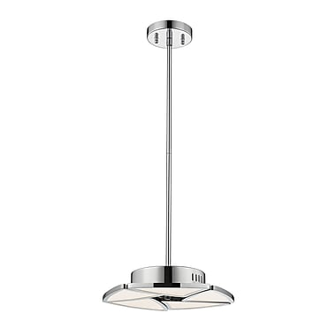 Z-Lite Aeon Pendant Light, Chrome, White Acrylic Shade (1003-5CH-LED)