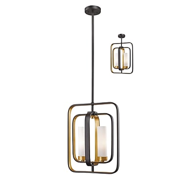 Z-Lite Aideen Mini Pendant Light, Bronze, Matte Opal Glass Shade (6000MP-BZGD)