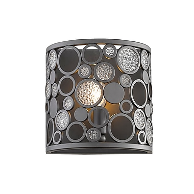 Z-Lite Ariell Wall Sconce Light, Bronze, Bronze Steel Shade (450-1S-BRZ)