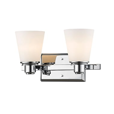 Z-Lite Kayla Vanity Light, Chrome, Matte Opal Glass Shade (7001-2V-CH)