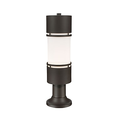 Z-Lite Luminata Outdoor Post Light, Bronze, Matte Opal Glass Shade (560PHB-553PM-DBZ-LED)